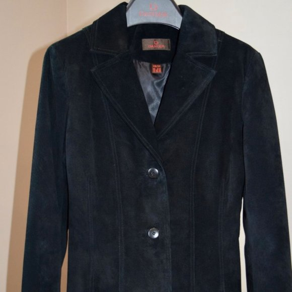 Danier Black Suede Jacket/Blazer XS/6